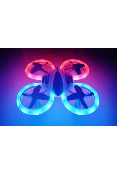 Deembro Q8 Mini Drone Neon Işıklı Uzaktan Kumandalı Drone 2,4 Ghz Mini Drone