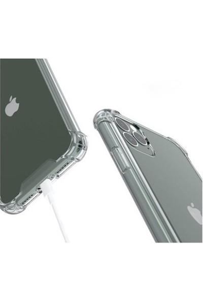 Rosstech Apple iPhone 11 Pro Ultra İnce Yüksek Korumalı Şeffaf Silikon Kılıf Anti Şok + Ekran Koruyucu