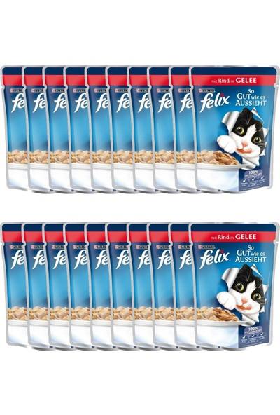 Felix Sığır Etli Kedi Yaş Maması 100 gr 20'li Paket