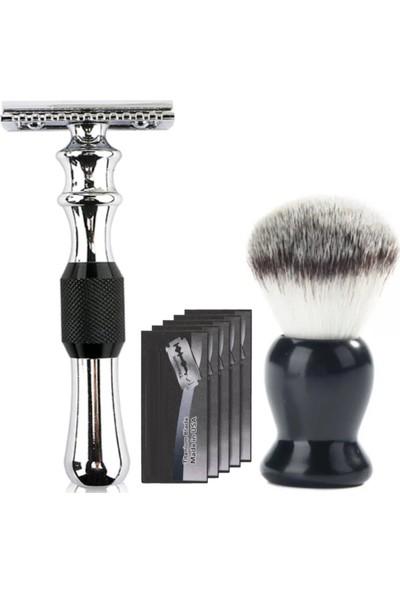 Qualis Shave Q6 Tıraş Makinesi Fırça 5 Adet Yaprak Jilet Set