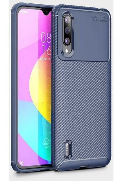Fibaks Xiaomi Mi A3 Kılıf Rugged Armor Negro Karbon Silikon Lacivert