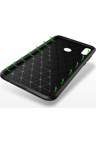 Fibaks Xiaomi Redmi Note 8 Pro Kılıf Rugged Armor Negro Karbon Silikon Siyah