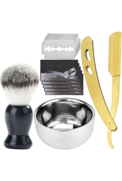 Qualis Shave U3 Ustura + Fırça + Kase + 5 Adet Jilet