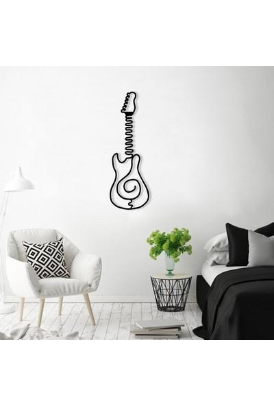 Karaen Alternatif Rock Gitar Müzik Temalı Dekoratif Metal Tablo