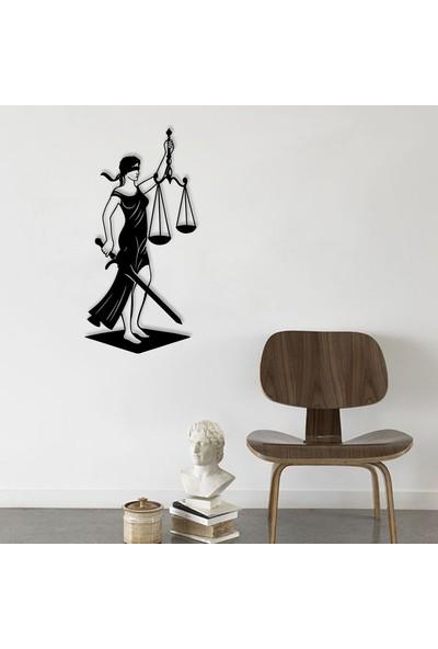 Karaen Avukat Adalet Heykeli Dekoratif Metal Duvar Tablosu