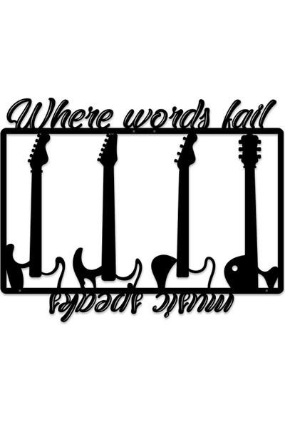 Karaen Desidero Gitar Dekoratif Metal Tablo