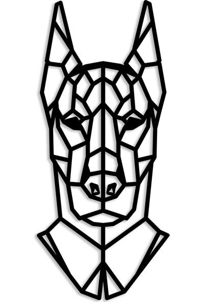 Karaen Doberman Dekoratif Metal Tablo