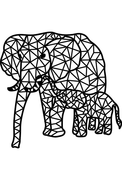 Karaen Elephant Girl Filler Dekoratif Metal Tablo