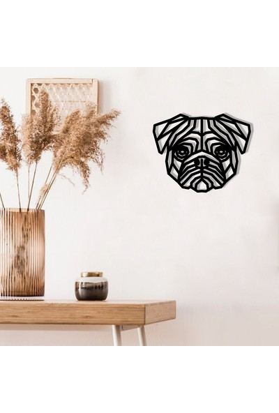 Karaen Pug Köpek Dekoratif Metal Tablo