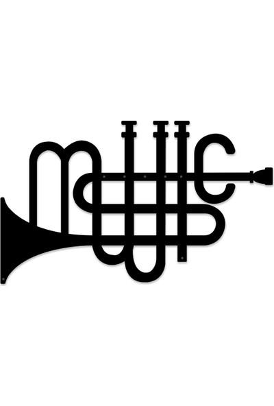 Karaen Tuba Müzik Temalı Dekoratif Metal Tablo
