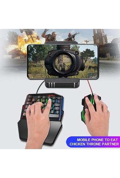 Ally HXSJ V100 One - Handed Gaming Tek El Oyun Klavyesi + Fare AL-32481