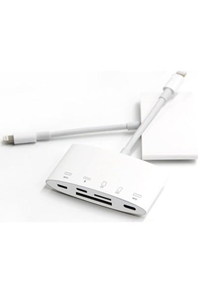 Ally NK-1040+PLUS Iphone Lightning To Sd-Tf Card USB Kamera Adaptörü AL-32646