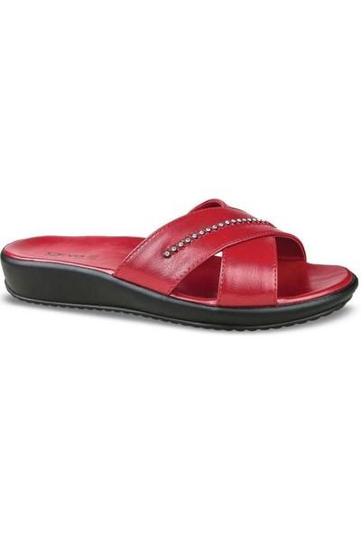 Ceyo 9200-16 Kırmızı Taşlı Terlik