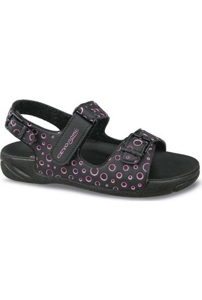 Ceyo Caprı-25 Siyah Kız Çocuk Anatomik Sandalet