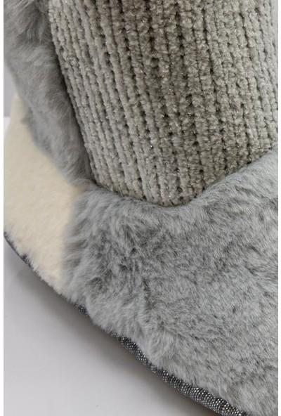 Twigy RR0107 Tw Kolet Gri Kışlık Kadın Panduf
