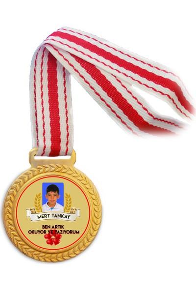 Antalya Dünya Bayrak Etkinliklerde Kullanılabilecek Kişiye Özel Altın Madalya (Baskılı)