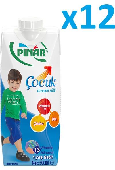 Pınar Çocuk Devam Sütü 500 ml 12LI