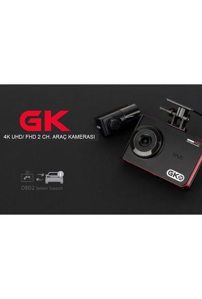 Gnet Gk 4K UHD 2ch Araç İçi Kamera
