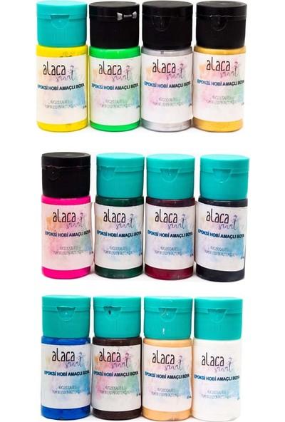 Alaca Sanat Epoksi Reçine Renklendirici Pigment Boya 20 ml 12'li
