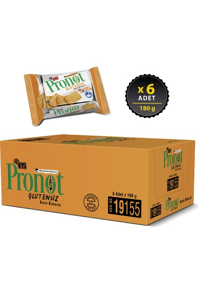 Eti Pronot Glutensiz Bebek Bisküvisi 180 g x 6 Adet