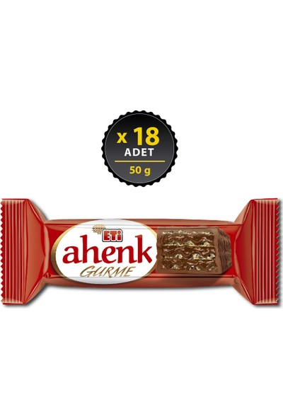 Eti Ahenk Gurme Gofret 50 g x 18 Adet