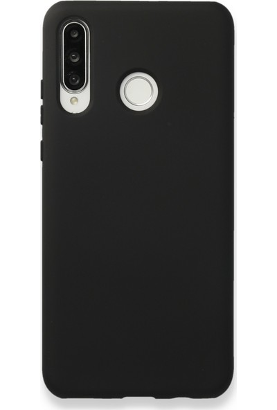 Fibaks Huawei P30 Lite Kılıf İçi Kadife Liquid Silikon