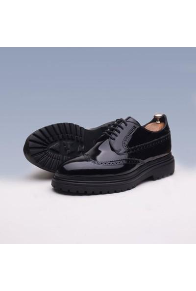 Ibay Perfect Erkek Siyah Rugan Deri Klasik Ayakkabı