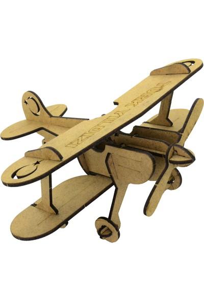 Camp Clover Boyanabilir 3 Boyutlu Pervaneli Uçak Maketi