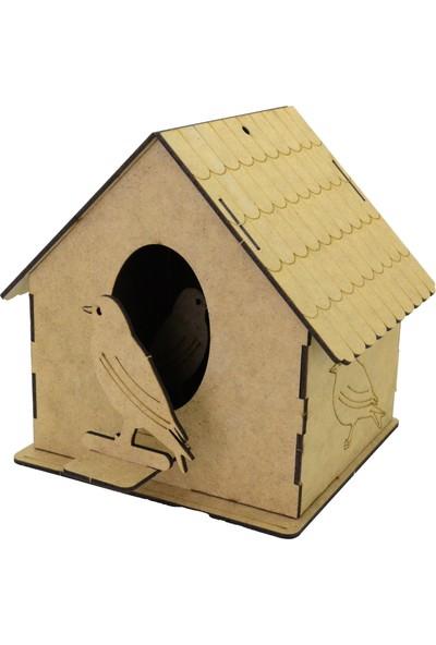 Camp Clover Boyanabilir 3 Boyutlu Kuş Evi Maketi