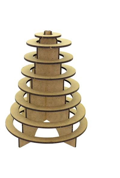 Camp Clover Boyanabilir 3 Boyutlu Halka Kulesi Maketi