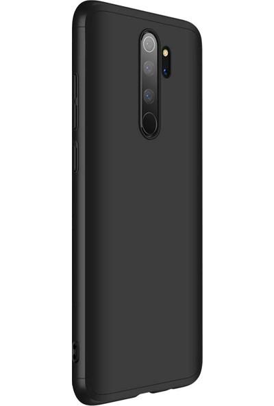 AksesuarLab Zore Ays Kapak - Xiaomi Redmi Note 8 Pro Kılıf 360 Tam Koruma Kılıf - 360 Derece Tam Koruma