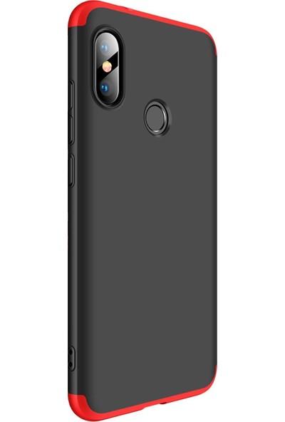 Zore Ays Kapak - Xiaomi Mi A2 Lite Kılıf 360 Tam Koruma Kılıf - 360 Derece Tam Koruma