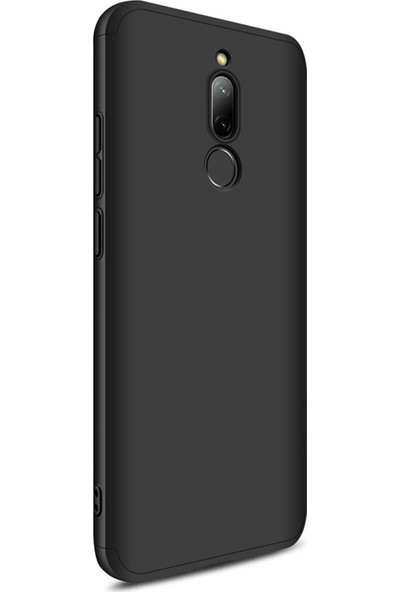 AksesuarLab Zore Ays Kapak - Xiaomi Redmi 8 Kılıf 360 Tam Koruma Kılıf - 360 Derece Tam Koruma