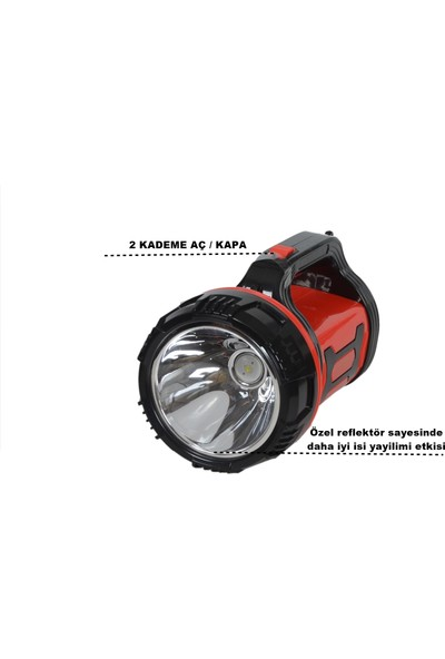 Yopigo YP-6680 10W Uzun Menzil Avcı Kamp Lambası Şarjlı El Feneri