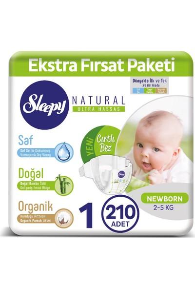 Sleepy Bebek Bezi Ekstra Fırsat Paketi 1 Numara 2-5 Kg Yenidoğan 210 Adet