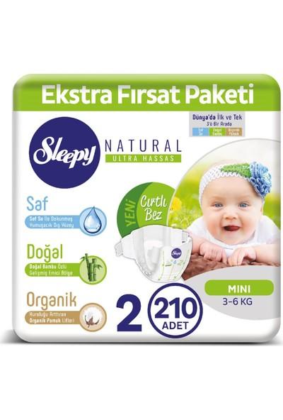 Sleepy Bebek Bezi Ektra Fırsat Paketi 2 Numara Mİni 210 Adet 3 - 6 Kg