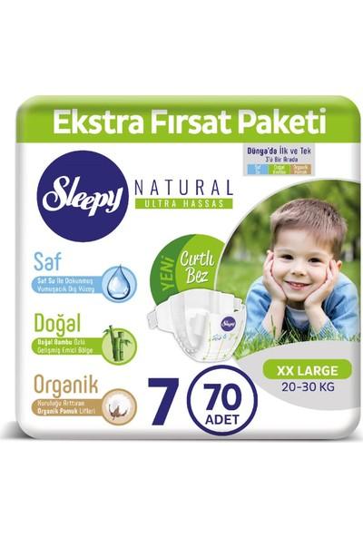 Sleepy Bebek Bezi Ekstra Fırsat Paketi 7 Numara 20 - 30 Kg XXLarge 70 Adet