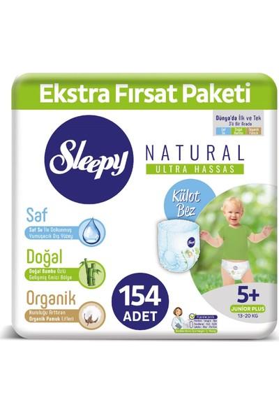 Sleepy Külot Bez 5+ Numara Junıor Plus Ekstra Fırsat Paket 154 Adet 13 - 20 Kg