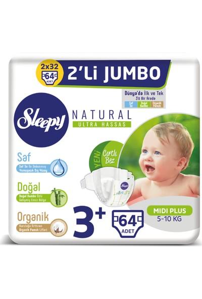 Sleepy Bebek Bez 3+ Numara Midi Plus 2'Li Jumbo 5 - 10 Kg