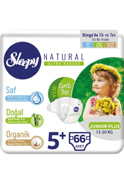 Sleepy Bebek Bez 5+ Numara Junıor Plus 66 13 - 20 Kg