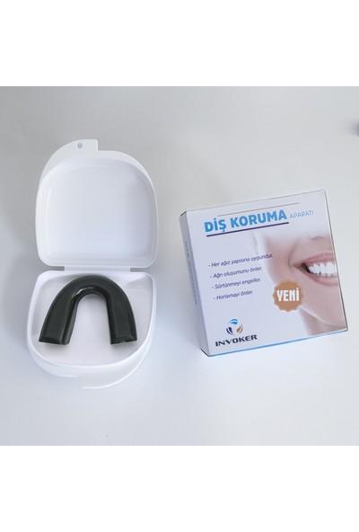 İnvoker Diş Gıcırdatma Diş Sıkma Önleyici Gece Plağı - Silikon Aparey