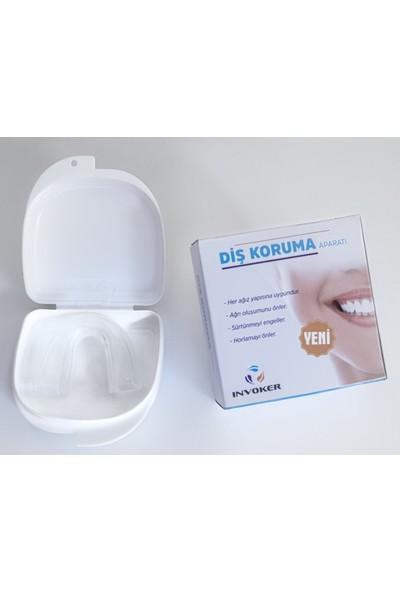 İnvoker Diş Gıcırdatma Diş Sıkma Önleyici Gece Plağı - Silikon Aparey Şeffaf