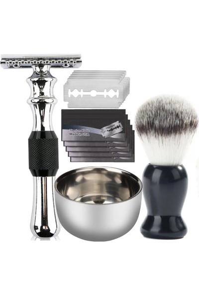 Qualis Shave Q6 Tıraş Makinesi + Fırça + Kase + 5 Adet Jilet