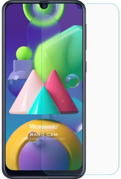 Microsonic Samsung Galaxy M21 Nano Glass Ekran Koruyucu Şeffaf