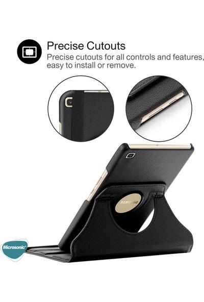 "Microsonic Samsung Galaxy Tab S6 Lite 10.4"" P610 Kılıf 360 Rotating Stand Deri Siyah"