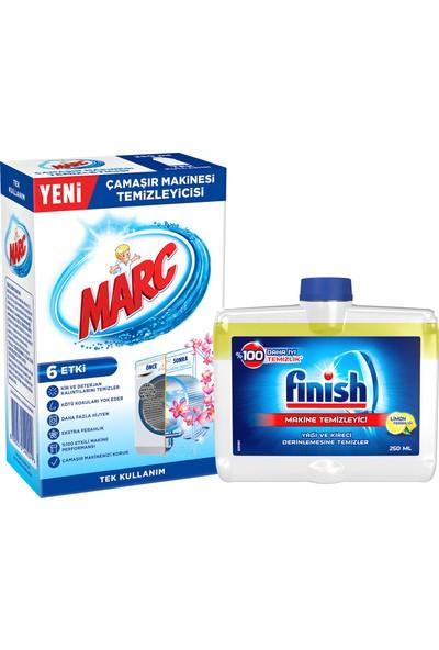 Finish Bulaşık Makinesi Temizleyici Sıvı Limon 250 ml + Marc Çamaşır Makine Temizleyici 250 ml