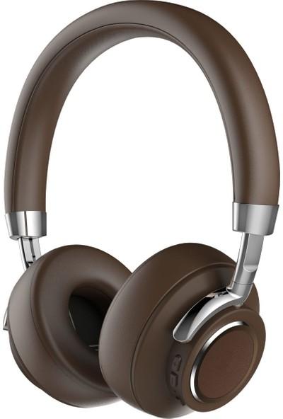 C4U Bluetooth 5.0 Kablosuz Kulaküstü Kulaklık - CS4-03 - Kahverengi