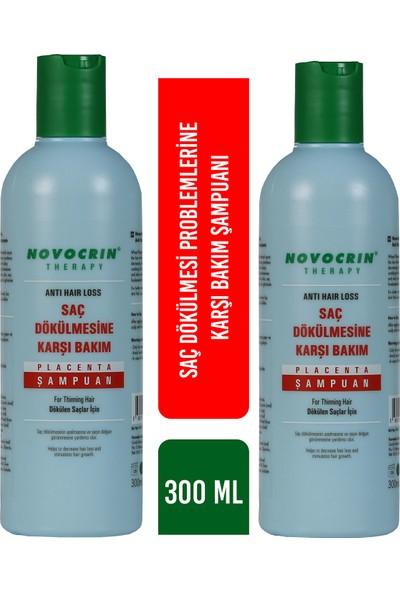 Novocrin Placenta Şampuan Saç Dökülmesine Karşı 300 Ml 2 Kutu