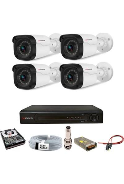 Cenova 4 Kameralı Güvenlik Sistemi Dış-Mekan-Hdd-Jack-Bnc-Konnektör Proje Kamera