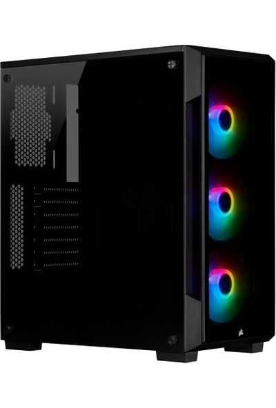 Corsair CC-9011190-WW Icue 220T RGB Cam On Panel Temperli Cam Yan Panel MID Tower Bilgisayar Kasa